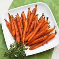 Roasted Baby Carrots With Honey & Orange