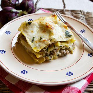 Artichoke Sausage Lasagna