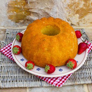 Rustic Semolina Lemon & Rosemary Cake