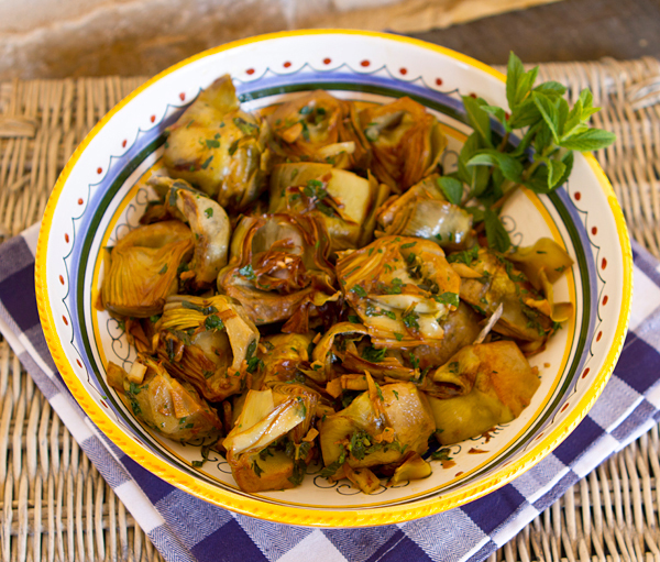 An easy, delicious way to cook fresh artichokes when in season.