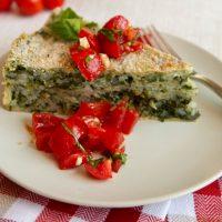 Spinach & Rice Crustless Pie