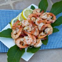 Garlicky Pan Fried Shrimp