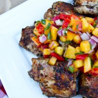 Grilled Chicken Thighs With Fresh Peach Salsa