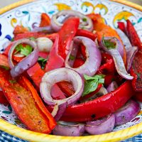 Grilled Red Peppers & Onions