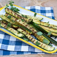 Grilled Zucchini Wedges With Mint