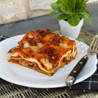 Sausage, Mushroom, & Ricotta Cheese Lasagna