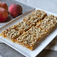 Fresh Peach, Oat, & Nut Squares