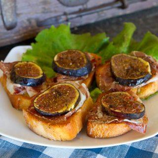 Bruschetta With Capocollo & Fresh Figs
