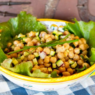Lemon Herb Chickpea Salad