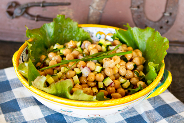 Herbs and lemon add a freshness to this quick and easy salad made with canned chickpeas.