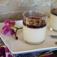 Almond Panna Cotta With Berry Syrup