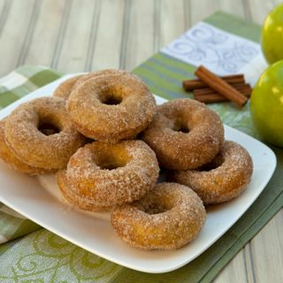 Baked Cinnamon Apple Donuts