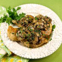 Chicken Galliano With Mushrooms