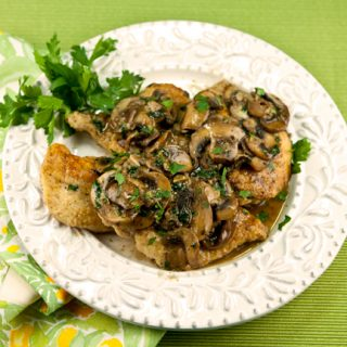 Chicken Galliano With Mushrooms