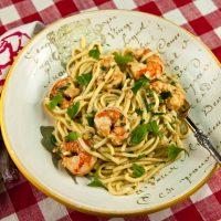 Garlicky Shrimp Scampi Pasta