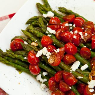 Asparagus With Balsamic Glazed Cherry Tomatoes