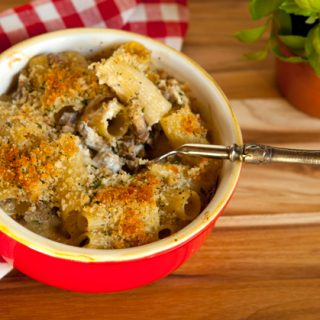 Baked Pasta With Mascarpone, Sausage, & Mushrooms