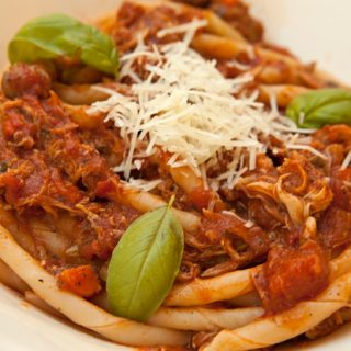 Slow Cooker Rabbit Ragu For Pasta