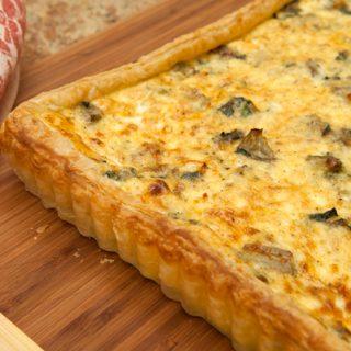 Ricotta, Spinach, & Artichoke Tart