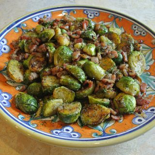 Brussels Sprouts with Onion, & Bacon