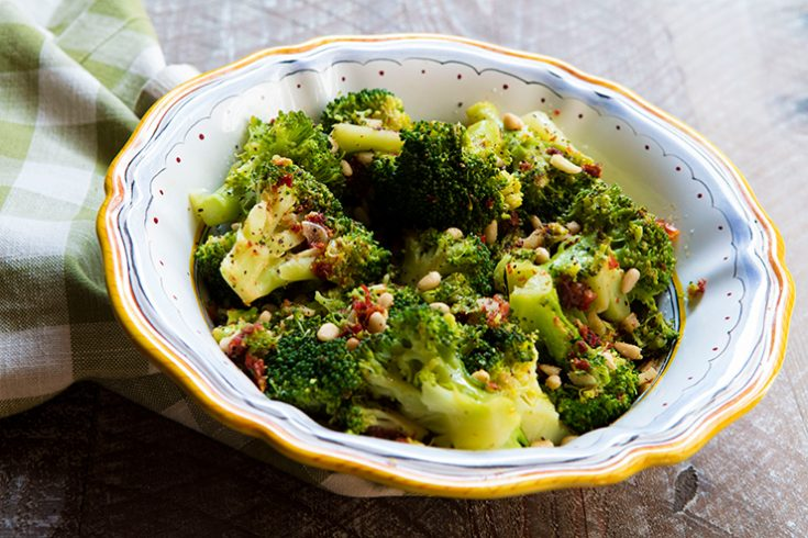 Sun-dried tomatoes bring a subtle sweetness to this traditional broccoli dish.