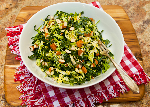 A crunchy mix of nutritious, raw veggies creates a very satisfying salad.