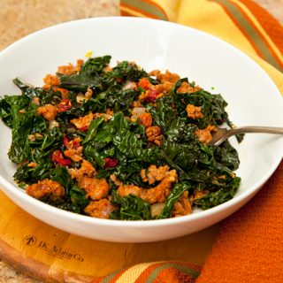 Kale With Sausage & Sun Dried Tomatoes