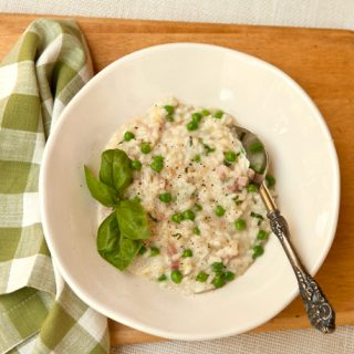 Risotto With Spring Peas, Ham & Fontina