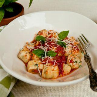 Herb Ricotta Gnocchi With Quick Tomato Sauce