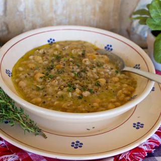 Creamy Chickpea & Farro Soup