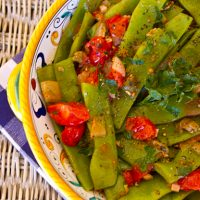 Romano Beans With Pancetta & Tomatoes