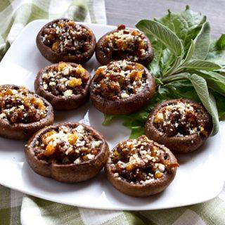 Chestnut and Sausage Stuffed Mushrooms