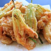 Beer Batter Zucchini Flowers