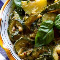 Spicy Stewed Zucchini