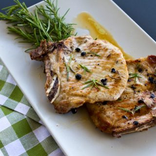 Pan Fried Pork Chops With Juniper & Rosemary