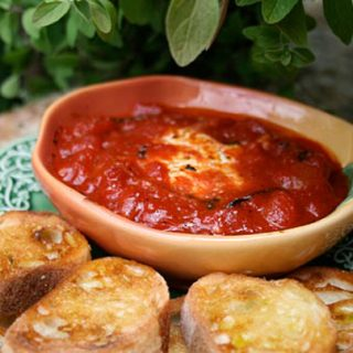 Warm Goat Cheese In Tomato Sauce