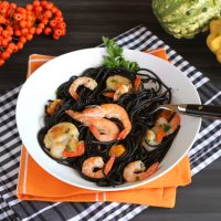 Squid Ink Pasta With Shrimp and Scallops