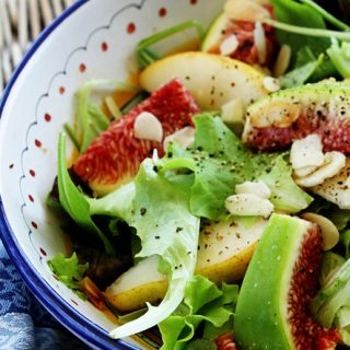 Fall Fig & Pear Salad with Toasted Almonds