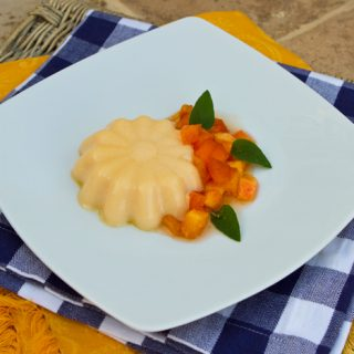 Apricot Panna Cotta With Peaches
