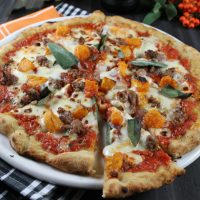 Pumpkin, Sausage, Sage Pizza Recipe