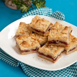 Butter Almond Jam Bars
