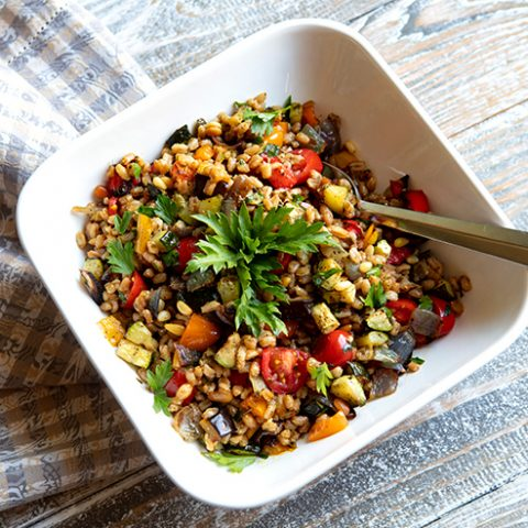 Farro Salad With Grilled Vegetables