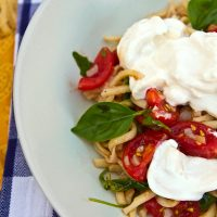 Pasta With Cherry Tomatoes & Burrata Cheese