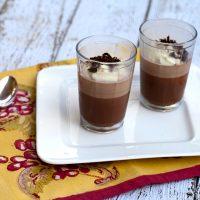 Chocolate & Amaretto Panna Cotta