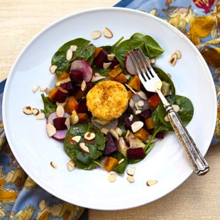 Roasted Beet, & Warm Goat Cheese Salad
