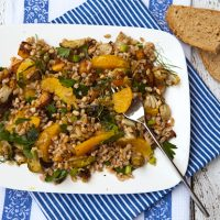 Oven Roasted Vegetables With Farro & Oranges