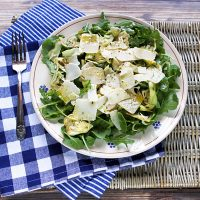 Raw Artichoke, Arugula, & Shaved Parmesan Cheese Salad