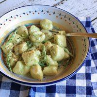 Ricotta Gnocchi With Creamy Wild Asparagus Sauce