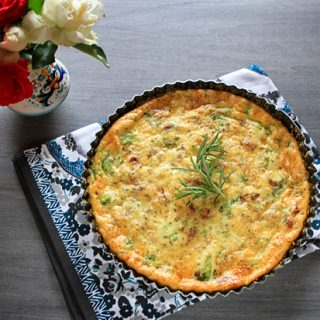 Broccoli, Pancetta & Pecorino Cheese Crustless Quiche
