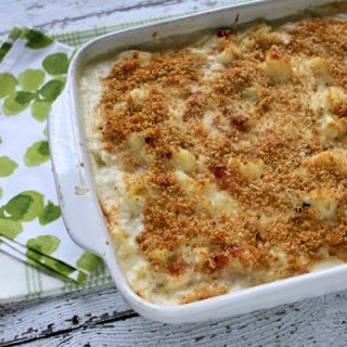 Cheesy Cauliflower Gratin With Pancetta